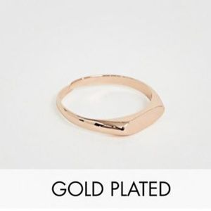 Pilgrim Jewelry rose gold plated mini signet ring